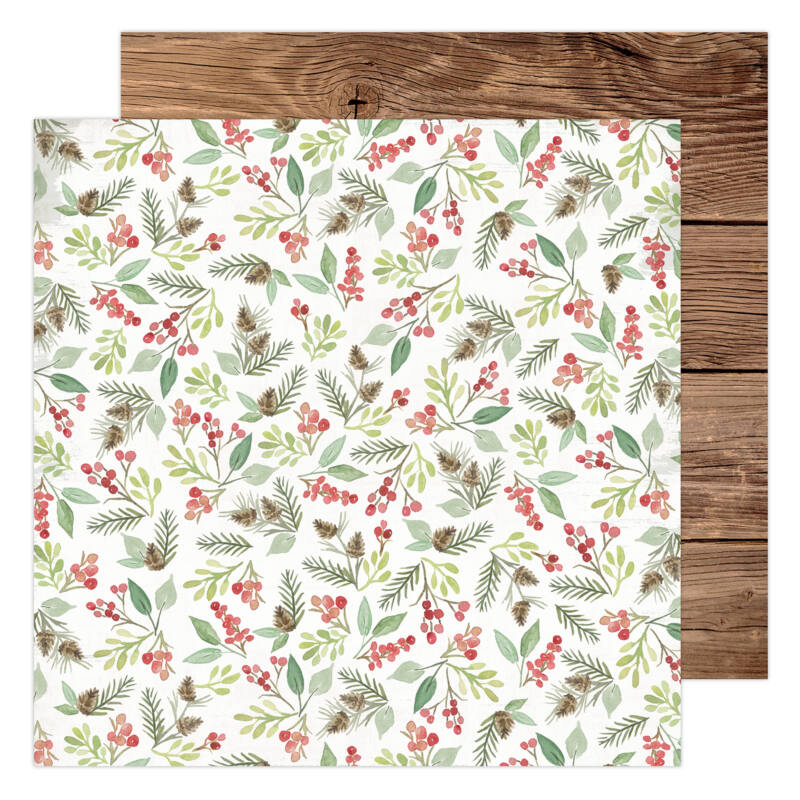 Heidi Swapp - Winter Wonderland 12x12 Patterned Paper - Woodland