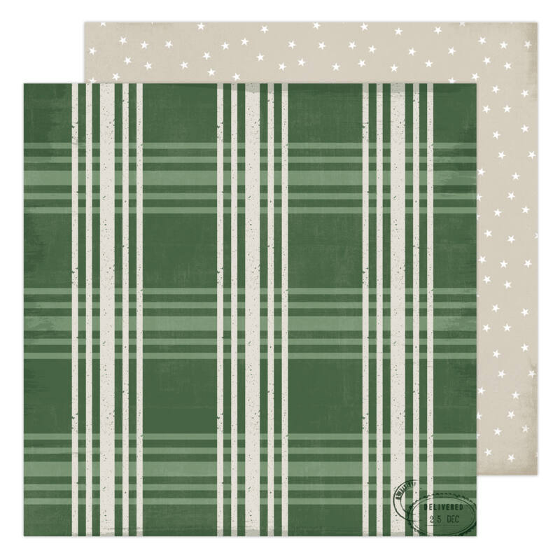 Heidi Swapp - Winter Wonderland 12x12 Patterned Paper - Fresh Pine