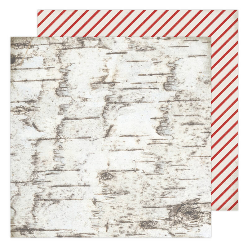 Heidi Swapp - Winter Wonderland 12x12 Patterned Paper - Candy Cane Forest