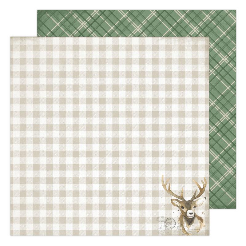 Heidi Swapp - Winter Wonderland 12x12 Patterned Paper - Dasher