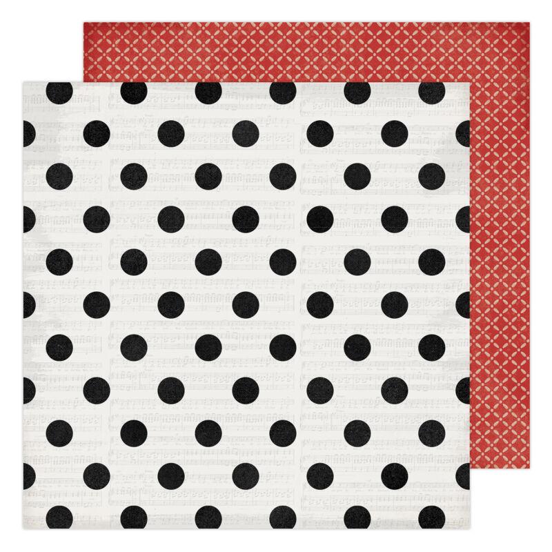 Heidi Swapp - Winter Wonderland 12x12 Patterned Paper - Christmas Cheer