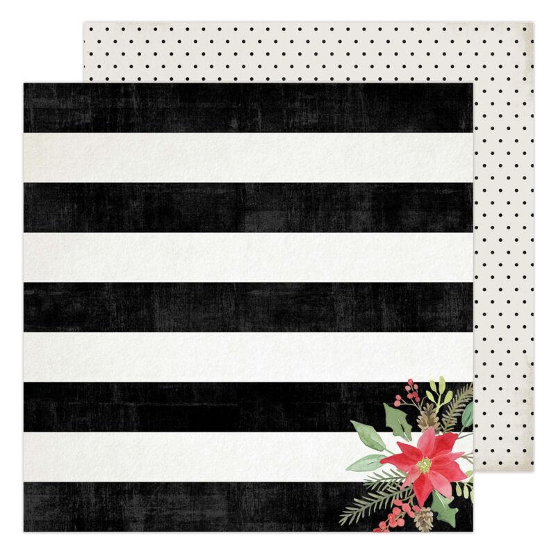 Heidi Swapp - Winter Wonderland 12x12 Patterned Paper - Tis The Season