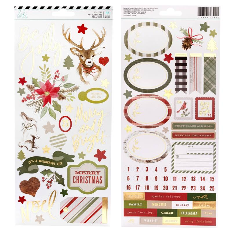 Heidi Swapp - Winter Wonderland 6x12 Cardstock Sticker (93 Piece)