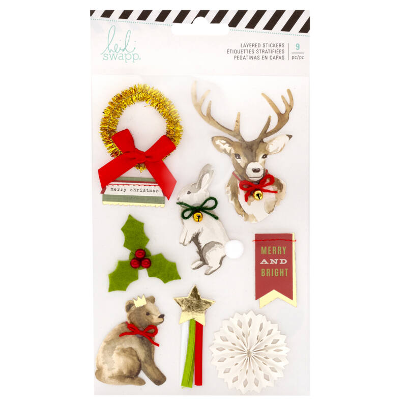Heidi Swapp - Winter Wonderland Layered Sticker (9 Piece)