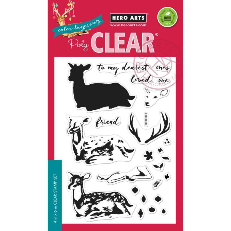 Hero Arts Color Layering Deer Clear Stamps