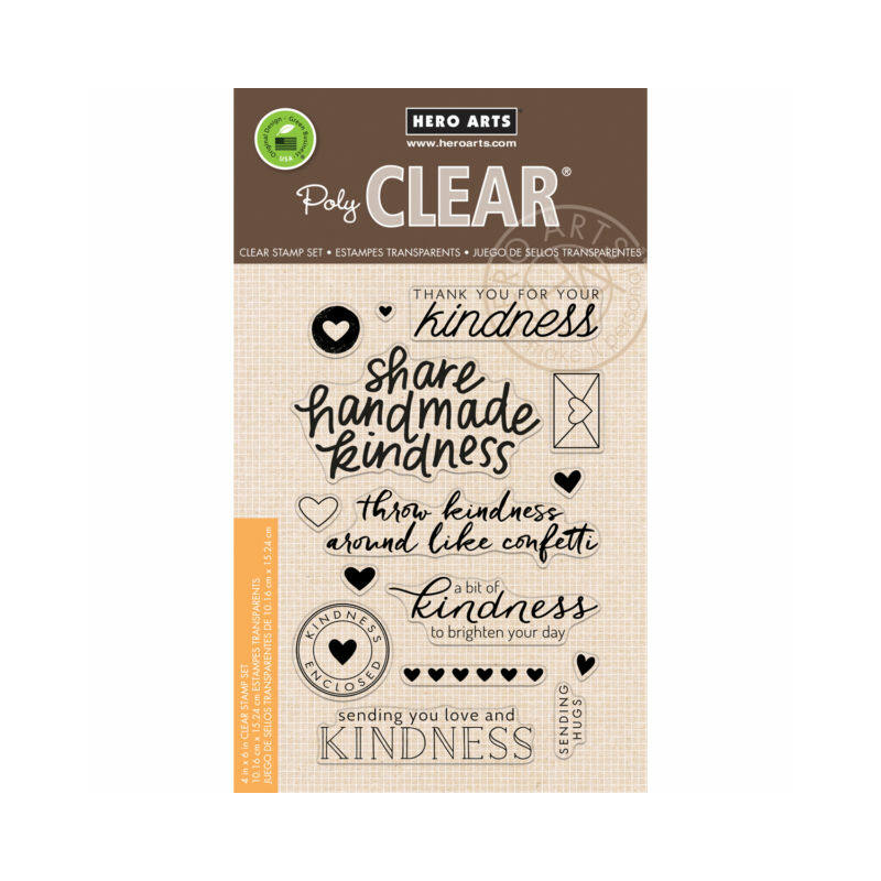 Hero Arts Clear Stamp - Share Handmade Kindness