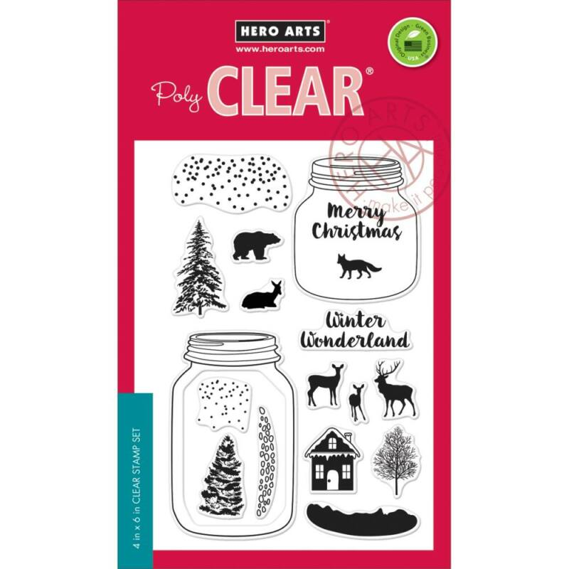 Hero Arts Winter Scene Clear Stamps