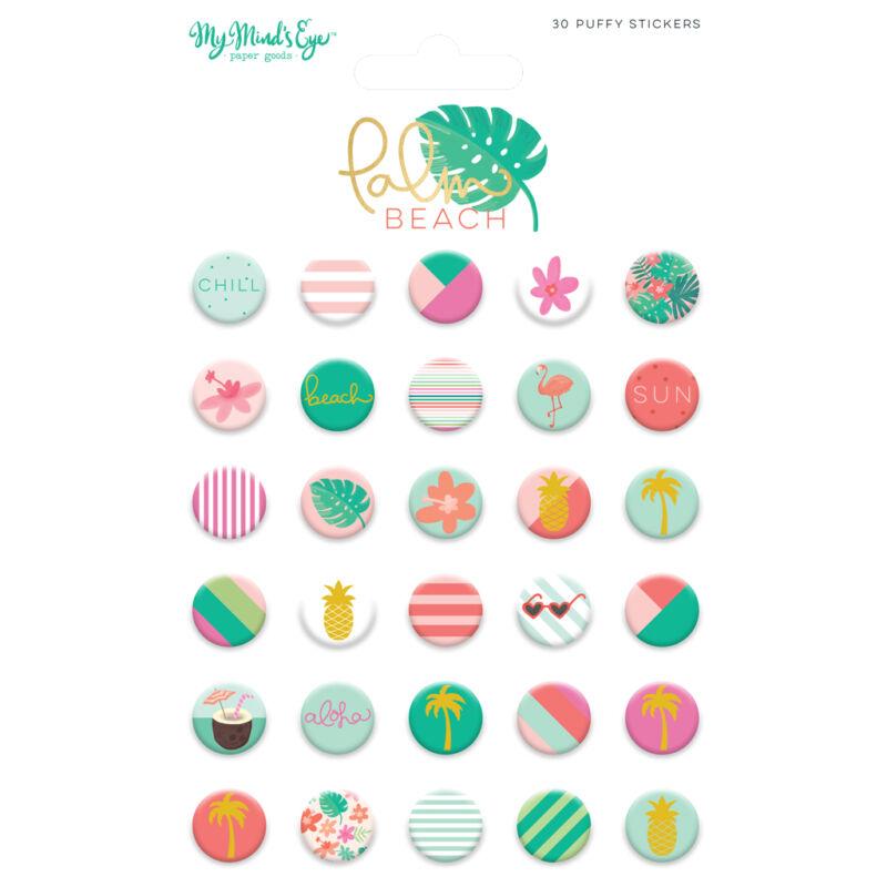 My Mind's Eye - Palm Beach Puffy Stickers