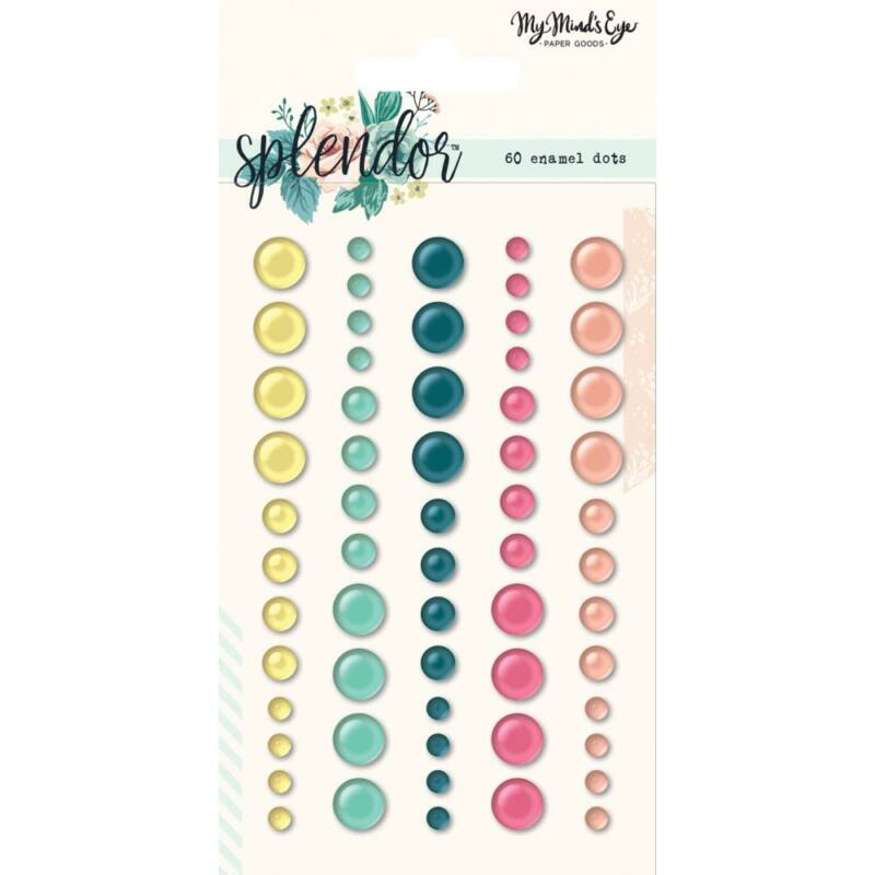 My Mind's Eye - Splendor Enamel Dots (60 Piece)
