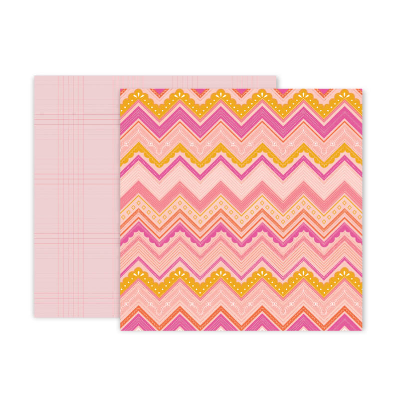 Pink Paislee - Paige Evans - Truly Grateful 12x12 Patterned Paper - 6