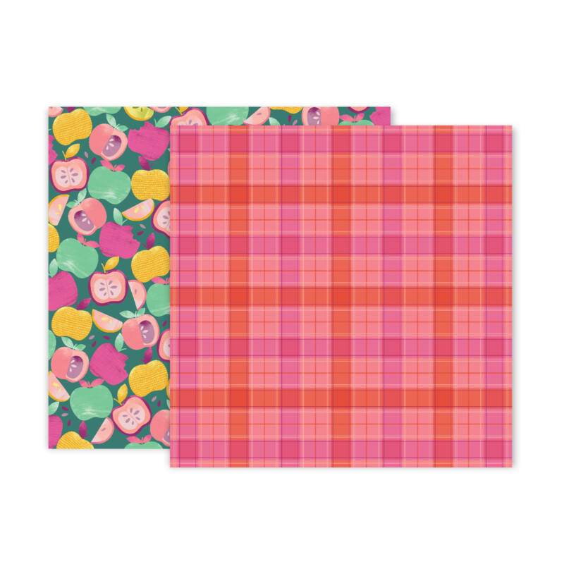 Pink Paislee - Paige Evans - Truly Grateful 12x12 Patterned Paper - 12