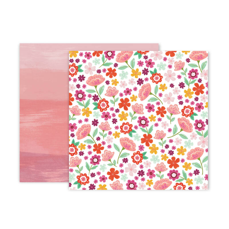 Pink Paislee - Paige Evans - Truly Grateful 12x12 Patterned Paper - 15