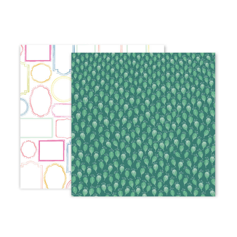 Pink Paislee - Paige Evans - Truly Grateful 12x12 Patterned Paper - 22