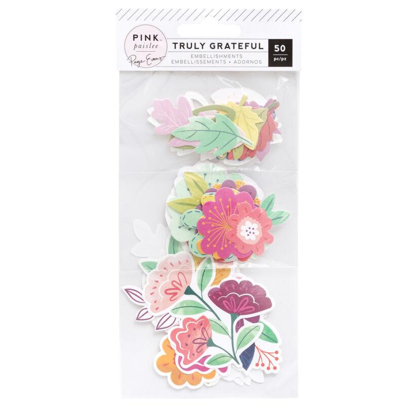 Pink Paislee - Paige Evans - Truly Grateful Floral Diecuts (50 Piece)