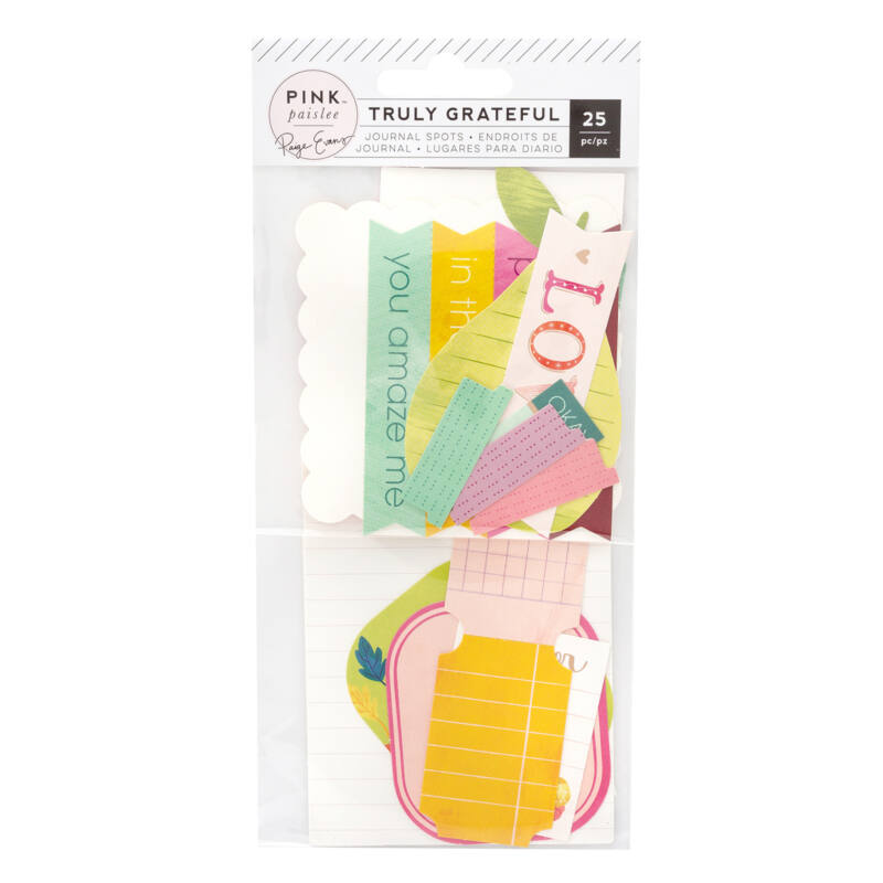 Pink Paislee - Paige Evans - Truly Grateful Journaling Spots (25 Piece)