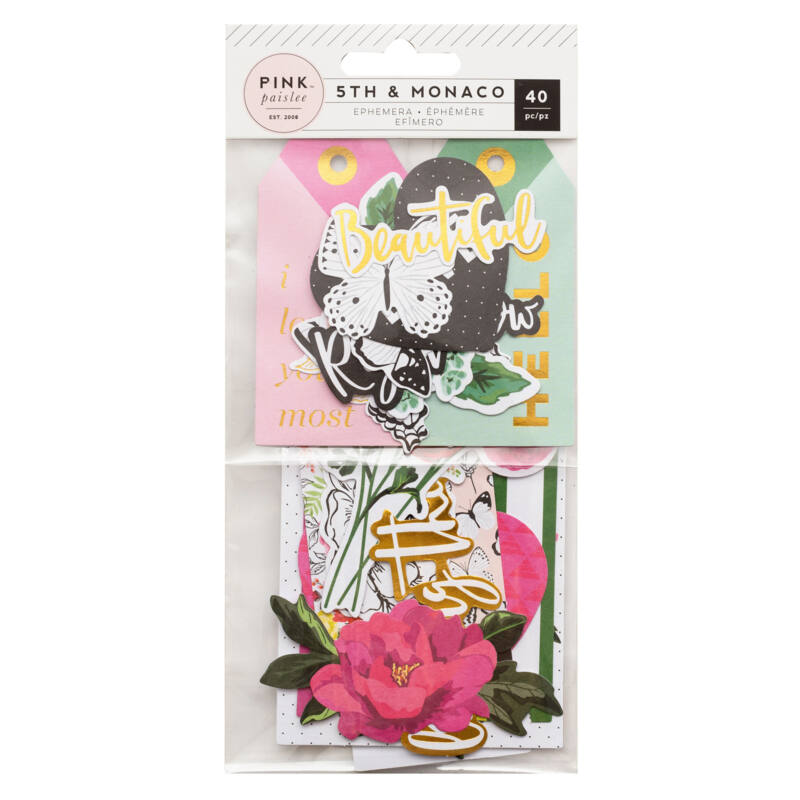 Pink Paislee - 5th and Monaco Ephemera (40 Piece)