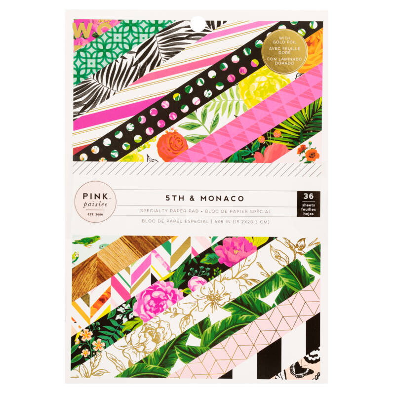 Pink Paislee - 5th and Monaco 6x8 Paper Pad (36 Sheets)