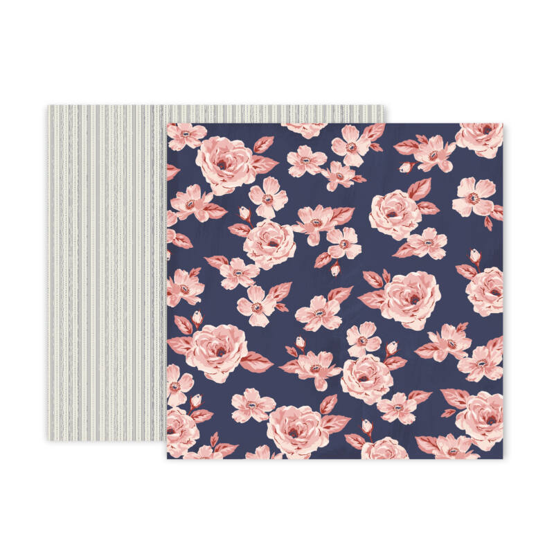 Pink Paislee - Again & Again 12x12 Patterned Paper - 2