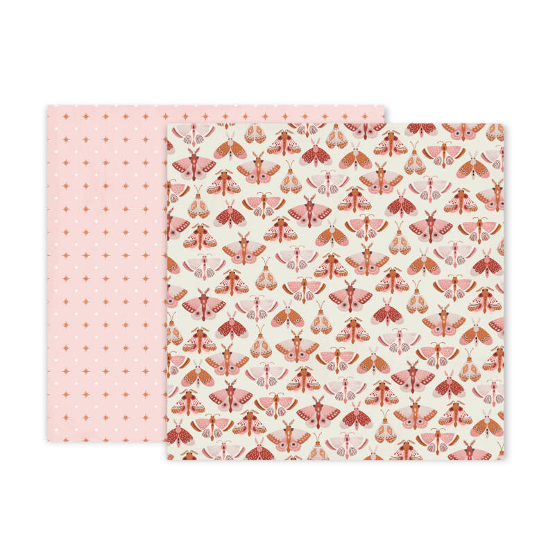 Pink Paislee - Again & Again 12x12 Patterned Paper - 4