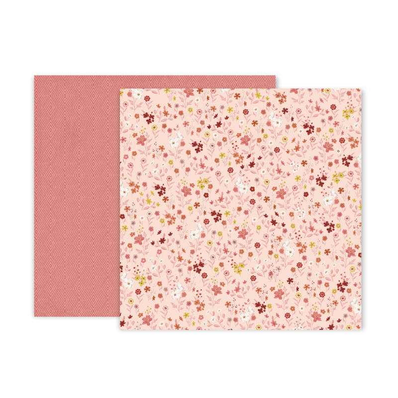 Pink Paislee - Again & Again 12x12 Patterned Paper - 12