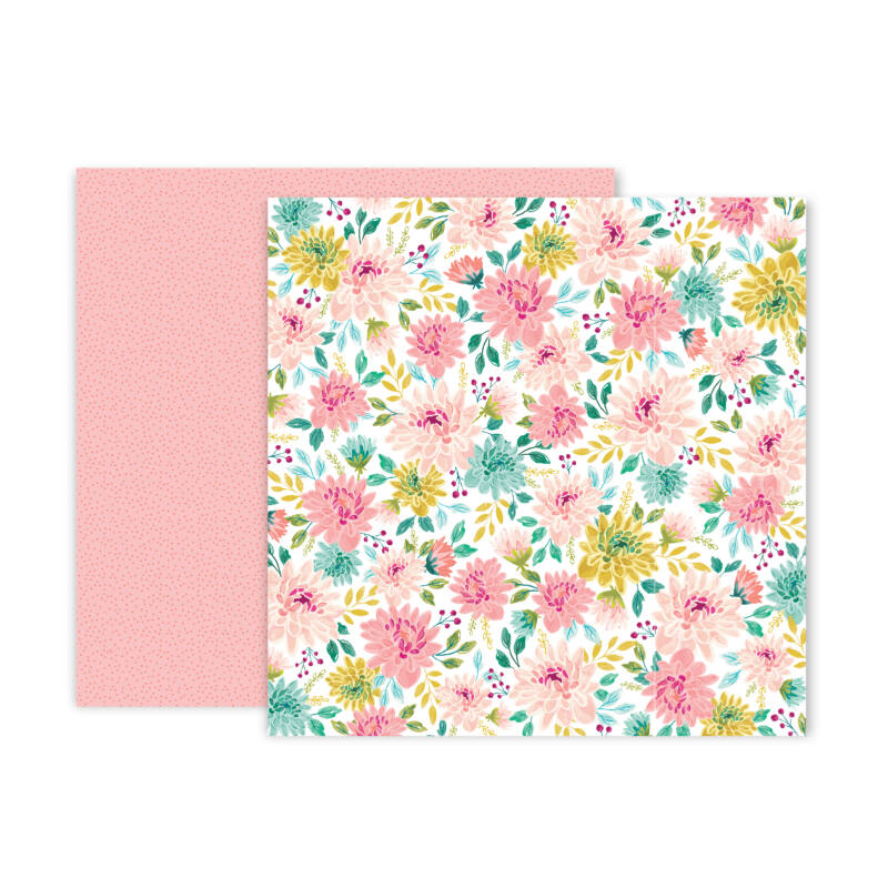 Pink Paislee - And Many More 12x12 Scrapbook Paper - 9