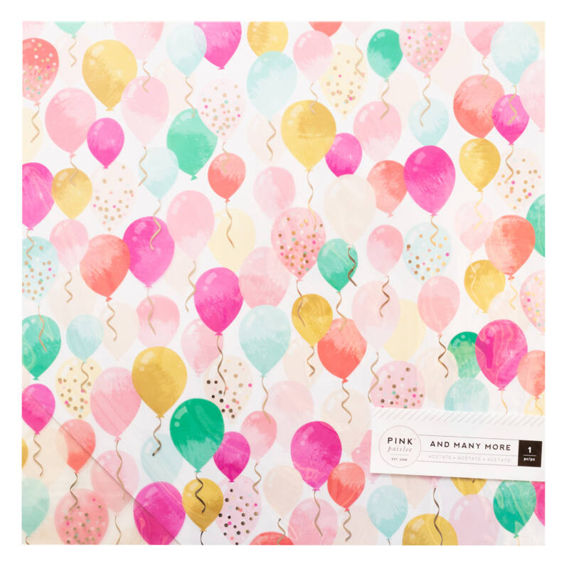 Pink Paislee - And Many More 12x12 Specialty Paper with Champagne Foil