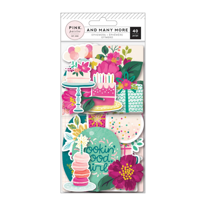 Pink Paislee - And Many More Ephemera (40 Piece)