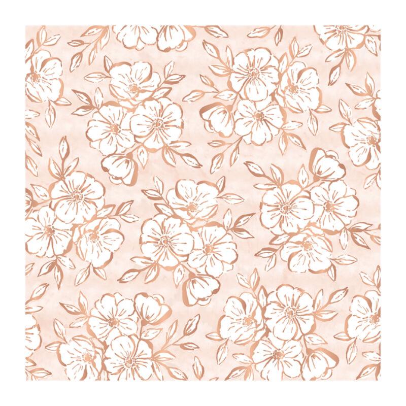 Pink Paislee - Auburn Lane 12x12 Vellum Paper