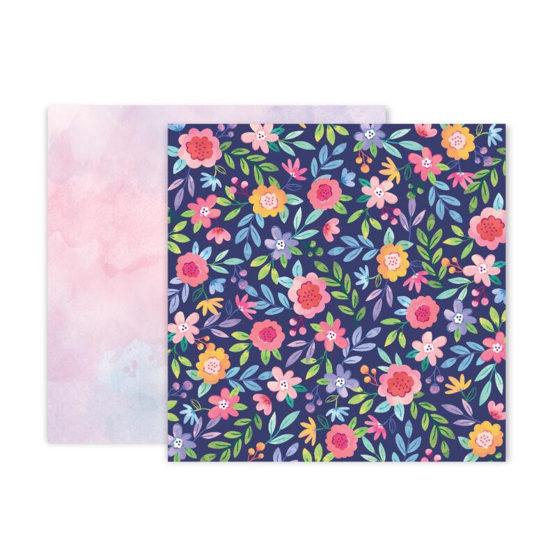 Pink Paislee - Paige Evans - Bloom Street 12x12 Paper - 2
