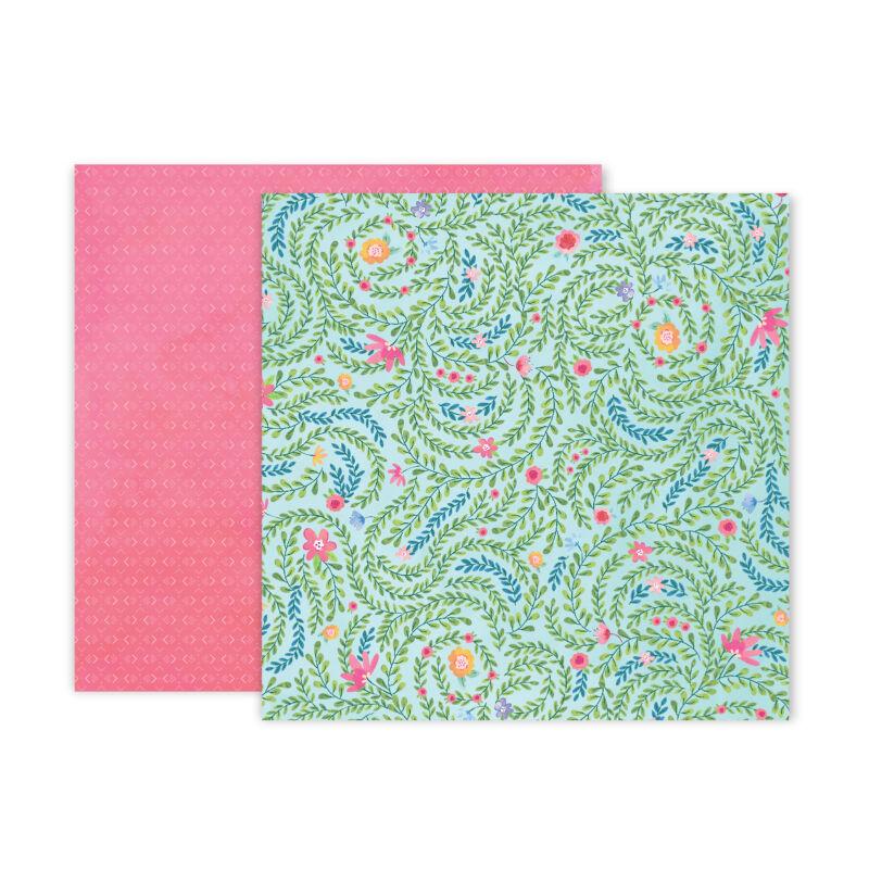 Pink Paislee - Paige Evans - Bloom Street 12x12 Paper - 5