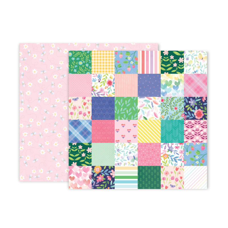 Pink Paislee - Paige Evans - Bloom Street 12x12 Paper - 7