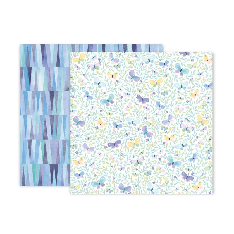 Pink Paislee - Paige Evans - Bloom Street 12x12 Paper - 8