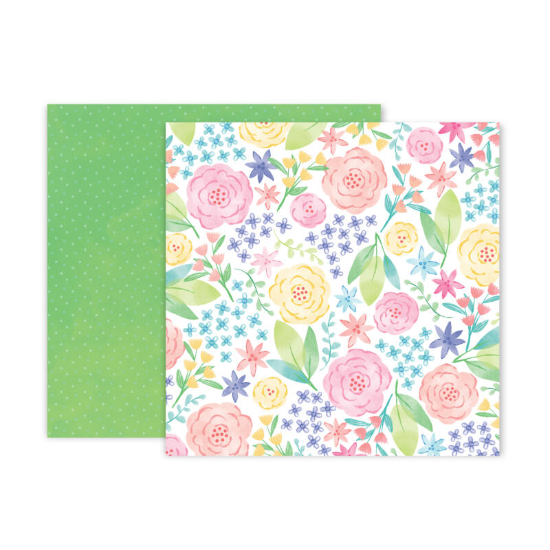 Pink Paislee - Paige Evans - Bloom Street 12x12 Paper - 12