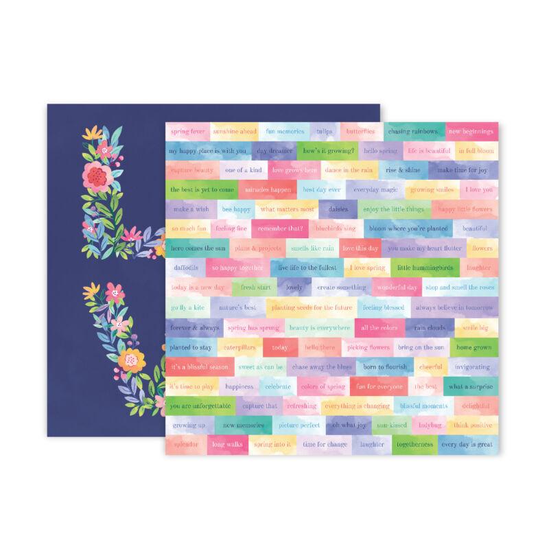 Pink Paislee - Paige Evans - Bloom Street 12x12 Paper - 13