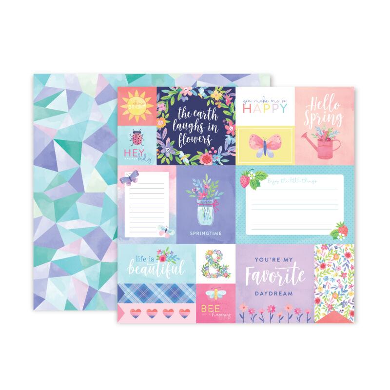 Pink Paislee - Paige Evans - Bloom Street 12x12 Paper - 17