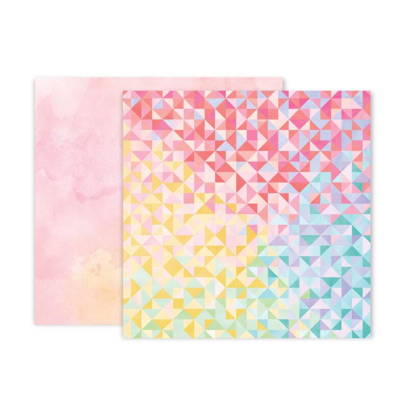 Pink Paislee - Paige Evans - Bloom Street 12x12 Paper - 22
