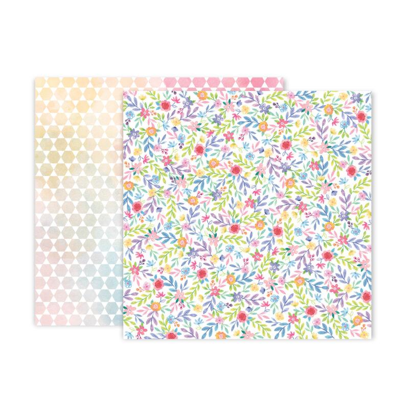 Pink Paislee - Paige Evans - Bloom Street 12x12 Paper - 23