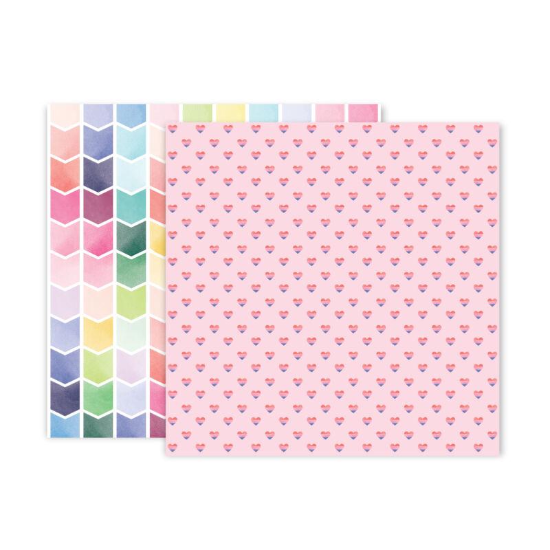 Pink Paislee - Paige Evans - Bloom Street 12x12 Paper - 24