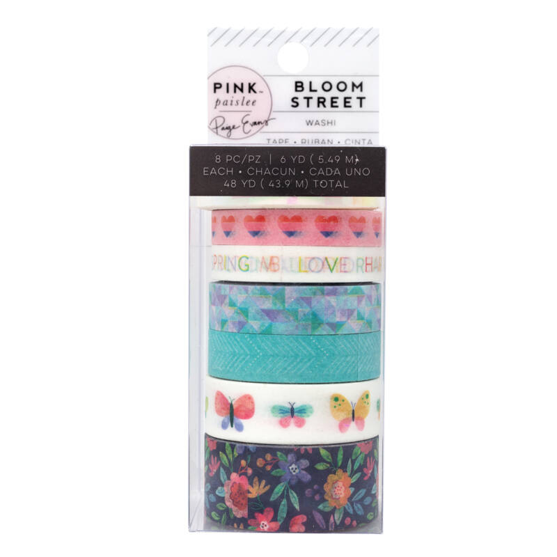 Pink Paislee - Paige Evans - Bloom Street Washi Tape (8 Piece)
