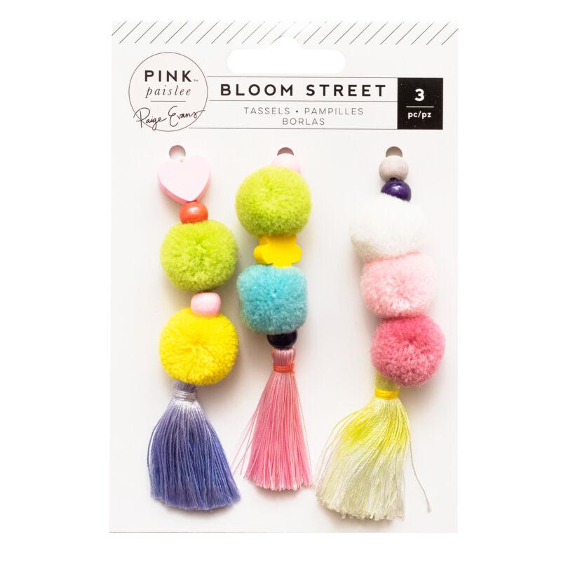 Pink Paislee - Paige Evans - Bloom Street Tassels - Pom Poms (3 Piece)