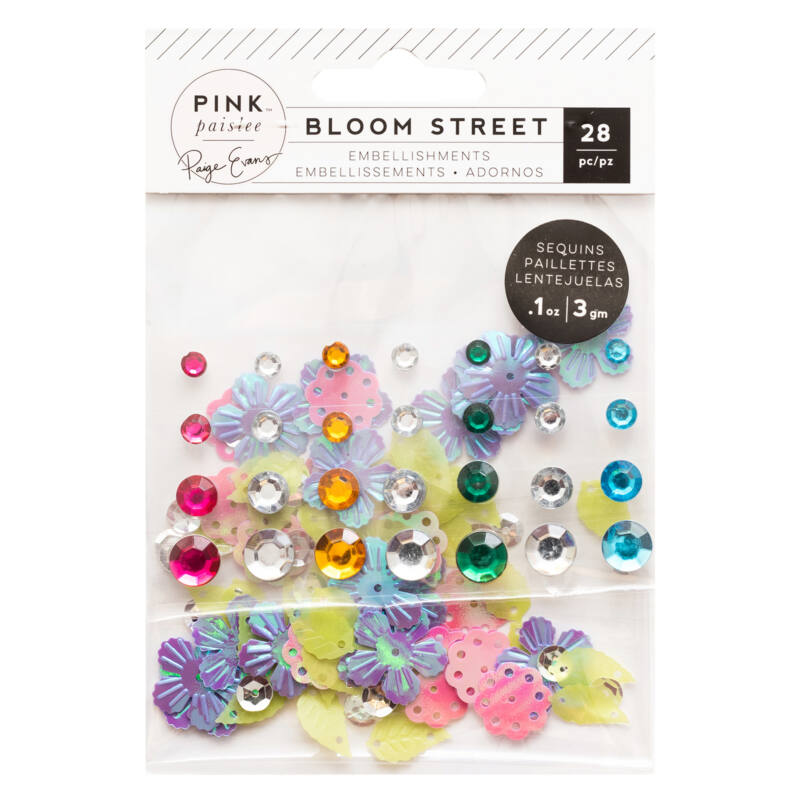 Pink Paislee - Paige Evans - Bloom Street Mixed Embellishments (28 Piece)