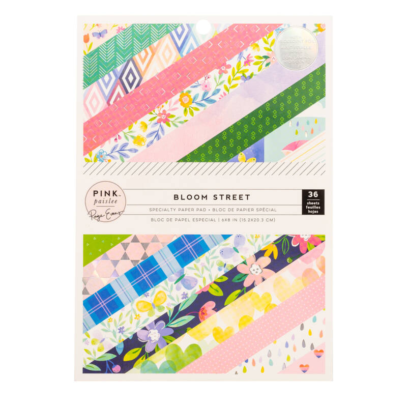 Pink Paislee - Paige Evans - Bloom Street 6x8 Paper Pad (36 Sheets)