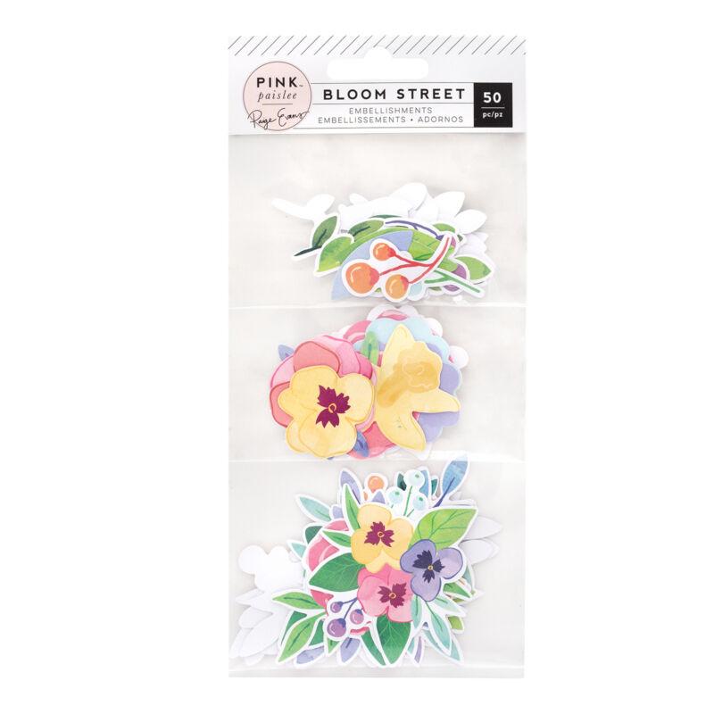 Pink Paislee - Paige Evans - Bloom Street Mixed Floral - Die-cut (50 Piece)