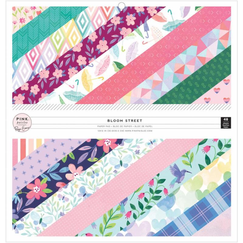 Pink Paislee - Paige Evans - Bloom Street 12x12 Paper Pad (48 Sheets)