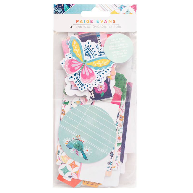 American Crafts - Paige Evans - Go the Scenic Route Journal Ephemera (41 Piece)