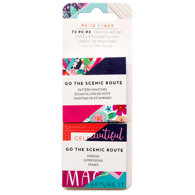 American Crafts - Paige Evans - Go the Scenic Route 2x2 Swatch Book (72 Sheets)