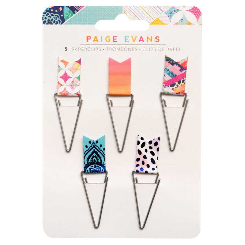 American Crafts - Paige Evans - Go the Scenic Route Flag Paperclips (5 Piece)