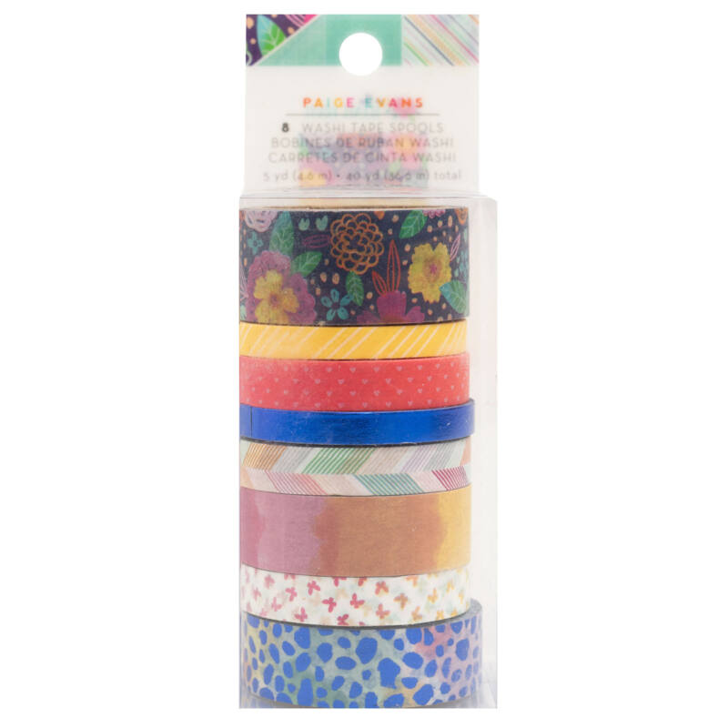 American Crafts - Paige Evans - Go the Scenic Route Washi Tape (8 Piece)
