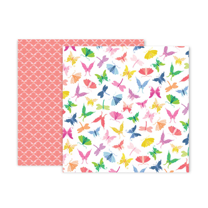 Pink Paislee - Paige Evans - Horizon 12x12 Patterned Paper - 7