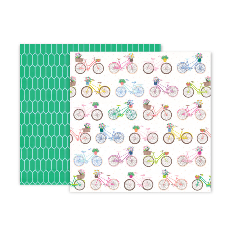 Pink Paislee - Paige Evans - Horizon 12x12 Patterned Paper - 13